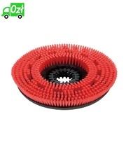 Szczotka tarczowa o średnim stopniu twardości, czerwona, średnica 430 mm
