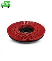 Szczotka tarczowa o średnim stopniu twardości, czerwona, średnica 450 mm