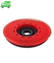 Szczotka tarczowa o średnim stopniu twardości, czerwona, średnica 510 mm