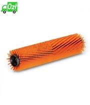 Szczotka walcowa o różnej długości włosia, pomarańczowa, 350 mm