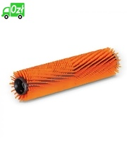 Szczotka walcowa z włosiem o różnej długości, pomarańczowa, 400 mm