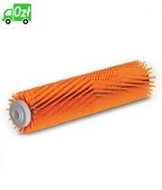 Szczotka walcowa z włosiem o różnej długości, pomarańczowa, 450 mm